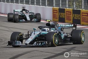 Valtteri Bottas yang acap harus mengalah kepada Lewis Hamilton saat memimpin balapan. (Foto: motorsport)