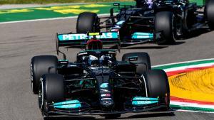 Valtteri Bottas (Finlandia/Mercedes) berjaya di dua sesi awal GP Emilia Romagna 2021. (Foto: f1)
