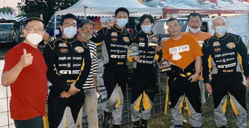 The Beagle Rally Jogja buktikan eksistensi dengan prestasi di ajang Sprint Rally Tanjung Lesung pekan lalu.