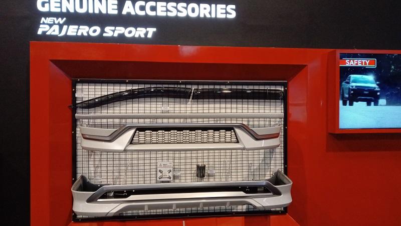 Tampilan aksesoris New Pajero Sport yang bisa memberikan tampilan beda dan keren pada mobil konsumen