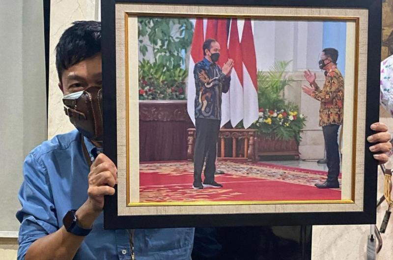Hendra Noor Saleh, hanya beberapa jam sebelum opening ceremony dikabari jika Presiden Jokowi berkenan membuka IIMS Hybrid 2021, 15 April jam 10.00 WIB di Istana Negara Jakarta
