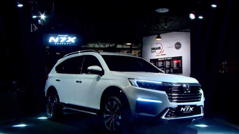 Mobil konsep Honda N7X ini mejeng untuk umum di Dreams Cafe by Honda di Lantai Dasar Mall Senayan Park, Jakarta hingga 6 Juni 2021