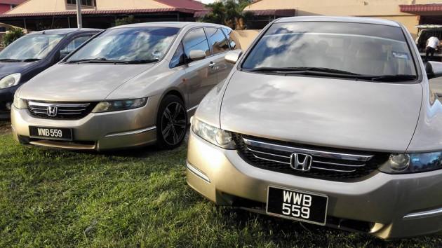 Honda Odissey asal Singapura yang dikloning di pasar gelap dan dikirim ke Malaysia