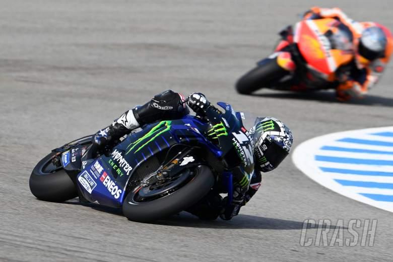 Maverick Vinales (Spanyol/Yamaha), tercepat dalam tes resmi Jerez 2021. (Foto: crash)