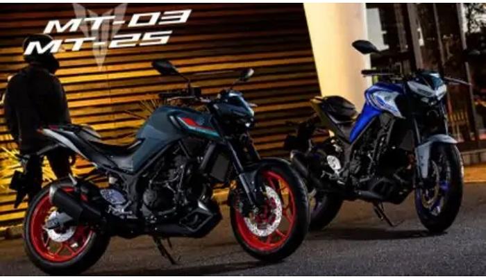 Tampilan Yamaha MT-25 dan MT-03 dengan warna baru yang lebih stylish