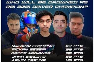 Lima pendekar sim racing Indonesia berebut gelar juara umum Group A Ramadhan Balap Indonesia 2021 nanti malam
