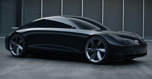 Mobil Konsep Hyundai yang akan meluncur sebagai sedan fully Elektrik yang disiapkan untuk tahun 2022