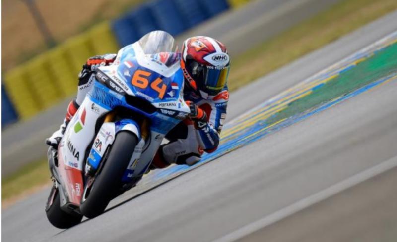 Pembalap Pertamina Mandalika SAG Racing Team, Bo Bensneyder digadang bisa naik podium di Le Mans Prancis