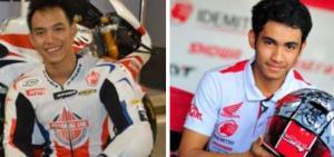 Doni Tata Pradita (kiri) dan Andi Gilang, dua pembalap Indonesia yang raih poin di ajang MotoGP. (foto : kolase)