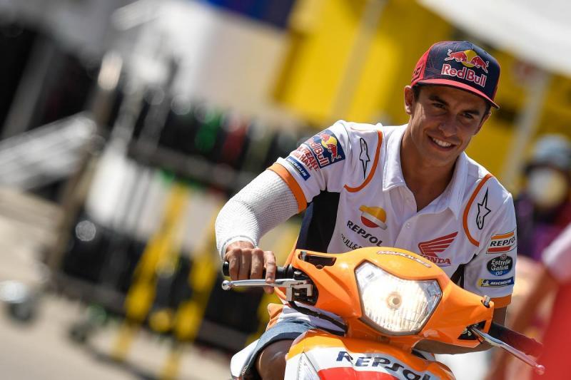 Marc Marquez (Spanyol/Repsol Honda), ujian fisik dari GP Italia ke GP Catalunya. (Foto: motogp)