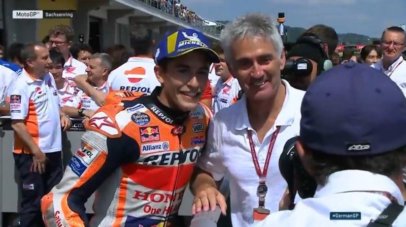 Marc Marquez dan Mick Doohan, dua jagoan Honda yang sama-sama pernah alami kecelakaan parah. (Foto: ist)