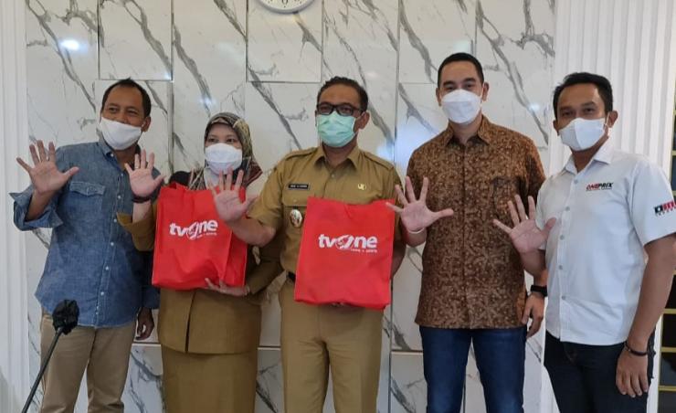 Dari kiri Mago Sarwono, Wabup Bogor Iwan Setiawan, Imam Sulisto dan Yanuardi di kantor Bupati Bogor