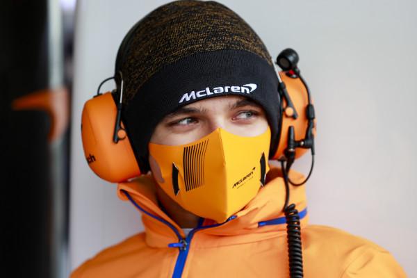 Lando Norris (Inggris/McLaren), insiden red falg berbuah penalti di GP Azerbaijan. (Foto: mclaren)