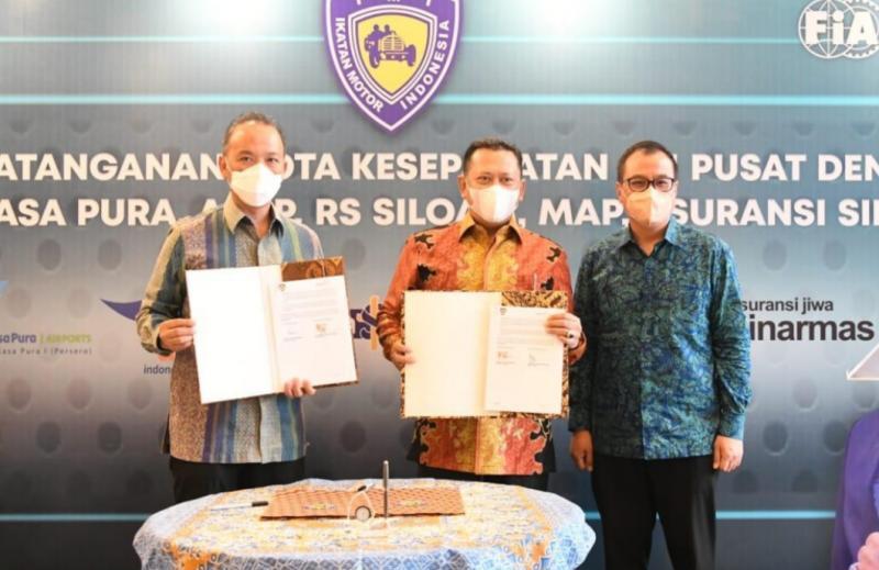 Bamsoet Teken MOU dengan PT Angkasa Pura 1, pemegang kartu anggota IMI gratis menggunakan VIP Lounge di berbagai Bandara Indonesia