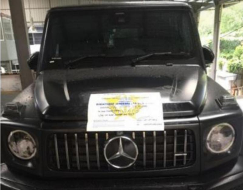 Foto mobil Mercedes-Benz Type G-63 tahun 2020 yang ditunjukkan Doddy kepada A