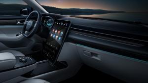 Sebuah mobil listrik hasil kerja sama Huawei dan Perusahaan otomotif