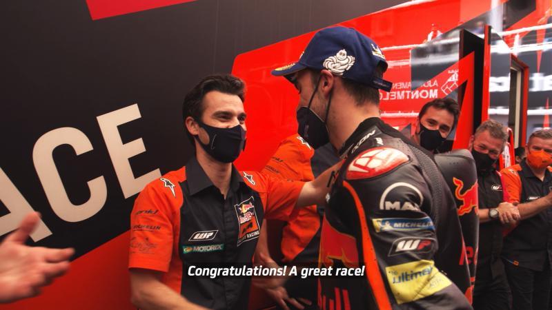Dani Pedrosa (Spanyol), eks pembalap Honda yang kini punya pengaruh khusus di paddock tim KTM. (Foto: motogp)