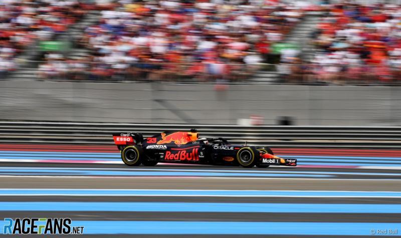 RB16B dengan mesin baru Honda e:TECHNOLGY, melakoni debut hebat di GP Prancis. (FotoL racefans)