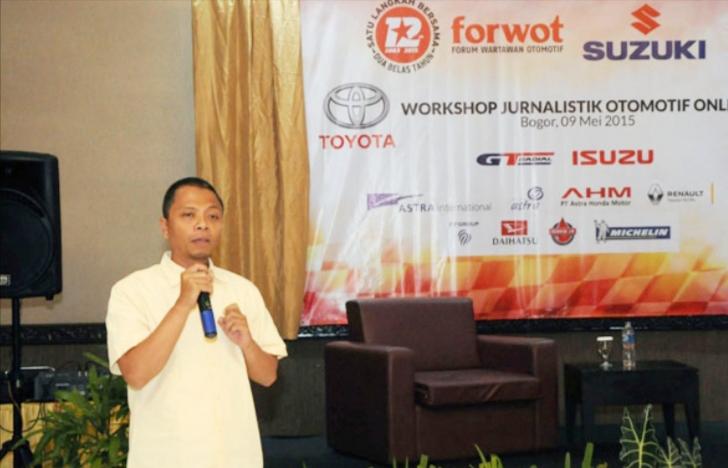 Indra Prabowo jurnalis dari www.sepedamotor.com kembali terpilih sebagai Ketum FORWOT. (foto : ist)