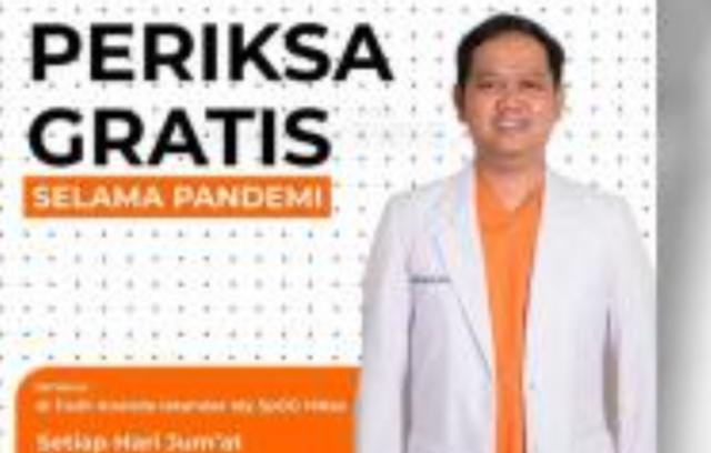 Dokter kansungan sekaligus pembalap Fadli Ananda membuka layanan periksa gratis kehamilan selama masa pandemi Covid-19 di Makassar (foto: ist)