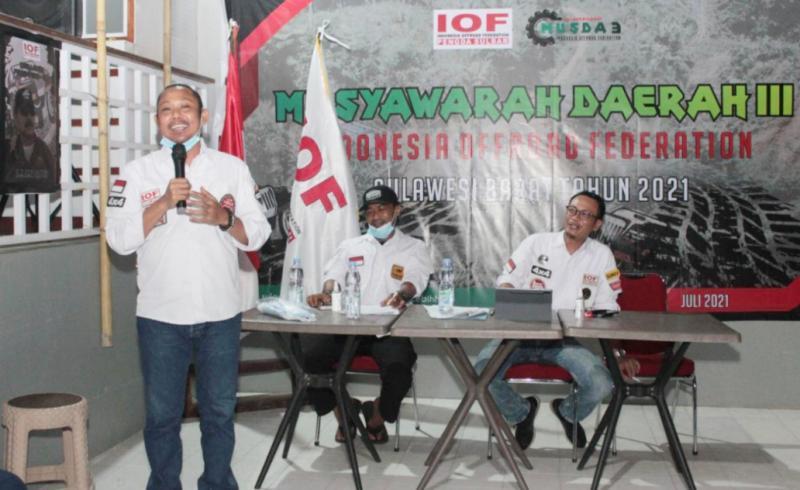 Ado Masud diharapkan menjadi motor penggerak offroad di Sulawesi Barat.(foto : murdanil)
