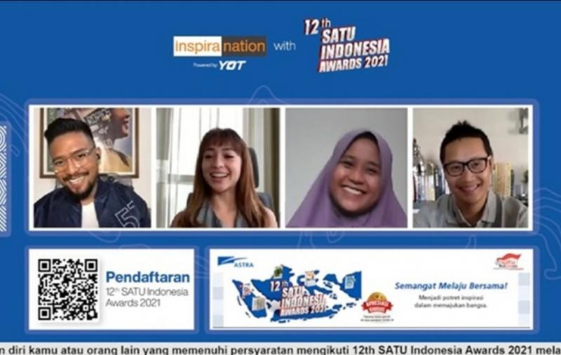 Cerita sukses pada usia muda tergambar dari kisah penerima apresiasi Semangat AstraTerpadu Untuk (SATU) Indonesia Awards 2020 bidang kewira usahaan Elsa Maharani danseorang publik figur Nikita Willy.