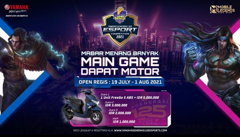 Yamaha Generasi 125 E-Sport Competition 2021 berhadiah puluhan juta rupiah kembali digelar