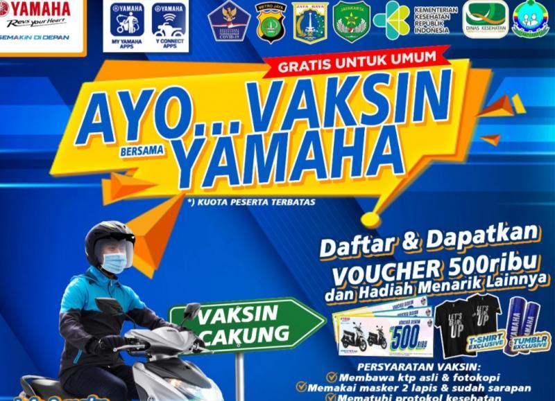 Gratis dan berhadiah, vaksinasi Covid-19 untuk masyarakat umum di pabrik Yamaha Jakarta Timur
