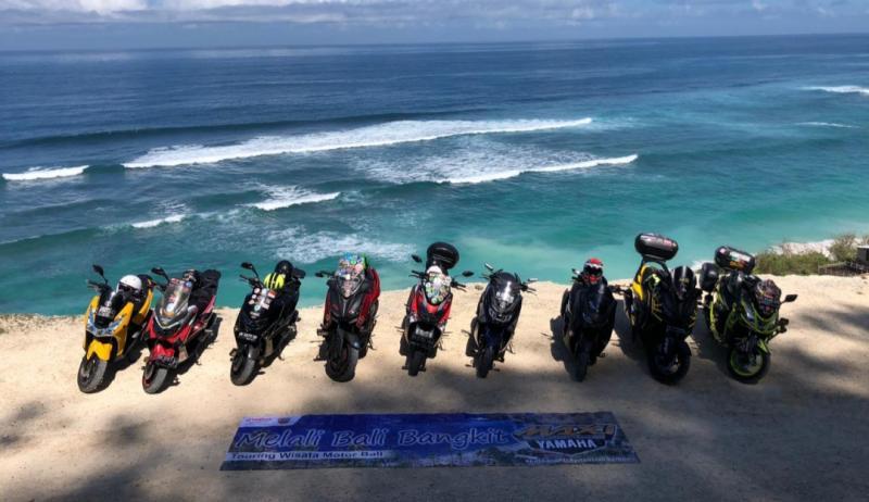 Bantu bangkitkan pariwisata Bali dengan melakukan Maxi Yamaha Journey ke beberapa destinasi wisata di Pulau Dewata