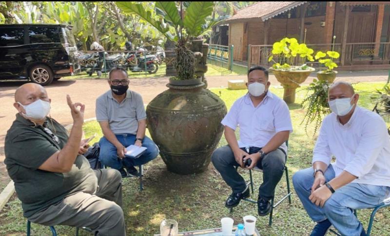 Rio Sarwono lakukan koordinasi dengan Ketua IMI DKI Jakarta Anondo Eko dan Sekum Dodi Irawan di Rumah Saya, Pasar Minggu, Jaksel tadi pagi