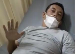 Kandidat Ketua IMI Jabar dan navigator senior Emay Achmad saat perawatan di rumah sakit Santo Yusuf Bandung