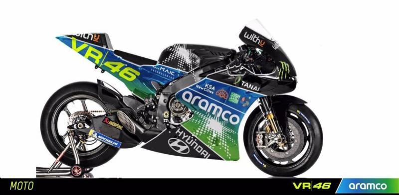 Livery tim Aramco VR46 Racing yang dirilis pada April lalu, benarkah Aramco sponsor utama tim baru Rossi? (Foto: speedcafe)