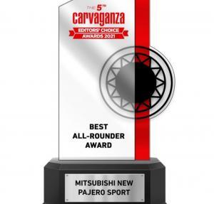 New Pajero Sport meraih Best All-Rounder versi Carvaganza Editors Choice Awards 2021