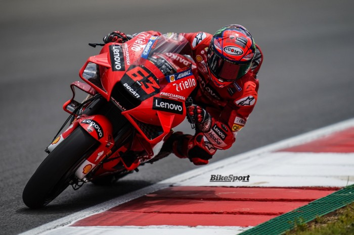 Francesco Bagnaia (Italia/Ducati), peluang besar raih kemenangan di GP Styrian. (Foto: bikesport)