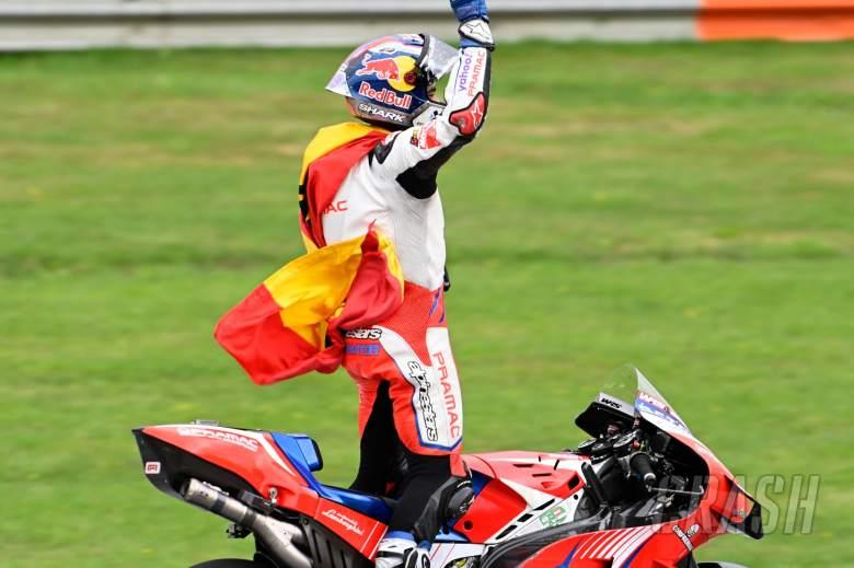 Jorge Martin (Spanyol/Pramac Ducati), naik enam tingkat di klasemen pembalap MotoGP 2021. (Foto: crash)