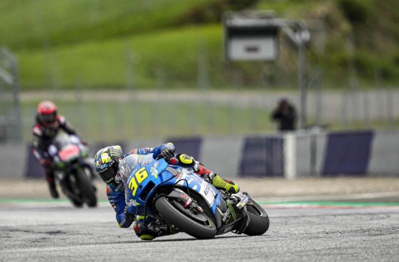 Joan Mir sang juara dunia MotoGP 2020 dari tim Suzuki Ecstar akhirnya naik podium ke-2 di GP Styrian, Minggu (8/8/2021) kemarin