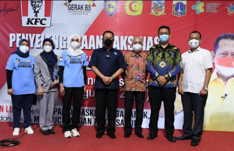 Bamsoet apresiasi swasta seperti PT Fast Food Indonesia perusahaan induk KFC ikut sukseskan vaksinasi Covid-19