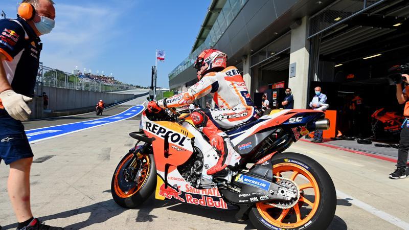 Marc Marquez (Spanyol), di saat menderita masih jadi pembalap Honda terbaik di MotoGP tahun ini. (Foto: motogp)