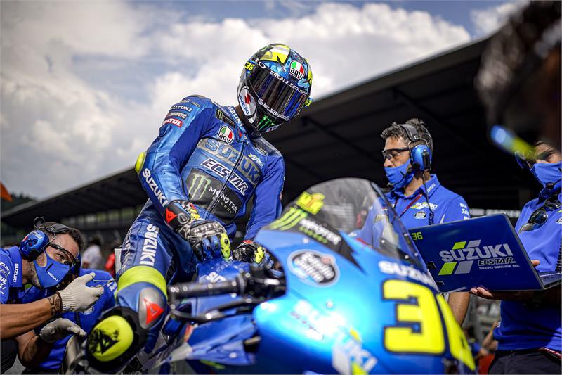 Joan Mir (Spanyol/Suzuki) dalam perjuangan mengejar Fabio Quartararo (Yamaha) di klasemen. (Foto: suzukiracing)