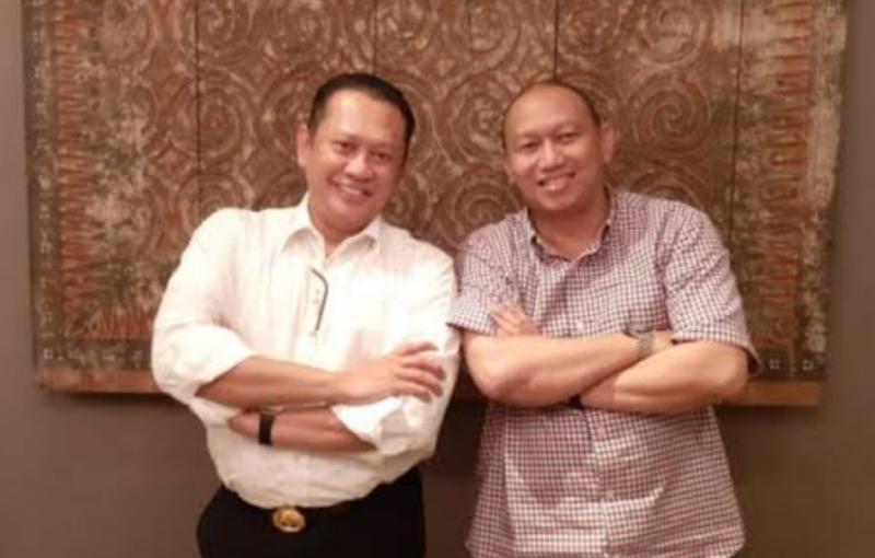 Anondo Eko (kanan) dan Bamsoet, dengan dicabutnya pelarangan kegiatan secara otomotis IMI DKI Jakarta sudah kembali membolehkan dengan tetap terapkan Prokes 5M