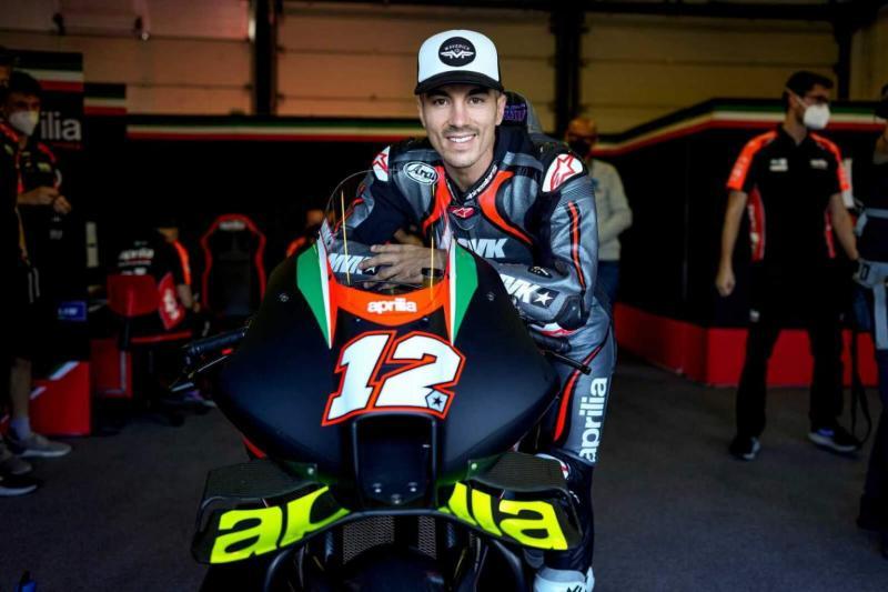 Maverick Vinales (Spanyol). debutan Aprilia RS-GP di GP Aragon akhir pekan ini. (Foto: therace)