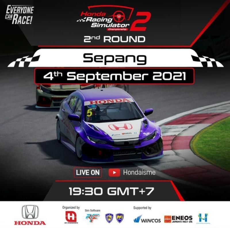 Sirkuit Sepang menjadi ajang putaran 2 Honda Racing Simulator Championship 2021