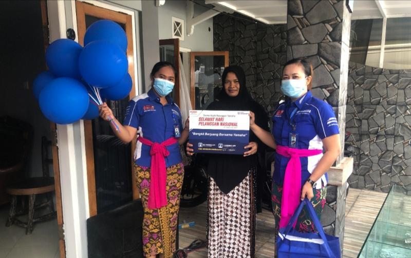 Yamaha Bali melakukan Gerebek Rumah Konsumen di Hari Pelanggan Nasional