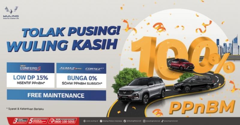PPKM diperpanjang, promo PPnBM dari Wuling tetap 100% di bulan September 2021