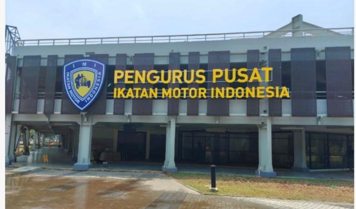 Kantor baru PP IMI di komplek GBK Senayan Jakarta yang Jumat (10/9/2021) esok diresmikan penggunaannya