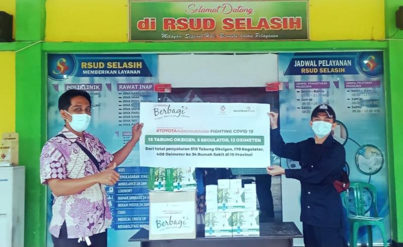 Bantuan tabung oksigen beserta isinya hingga ke rumah sakit di 23 provinsi di Indonesia