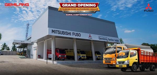 Model diler baru Gemilang Berlian Indah untuk pelayanan kendaraan komersial Mitsubishi Fuso di Singkawang