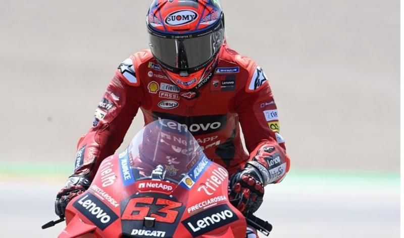 Fransesco Bagnaia (Ducati), raih pole position ke-2 nya tahun ini di MotoGP 2021 Aragon, Spanyol