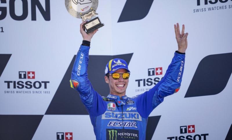 Berkat kecermatan Joan Mir dan didukung performa apik GSX-RR sukses mengantar Joan Mir raih podium di MotoGP Aragon