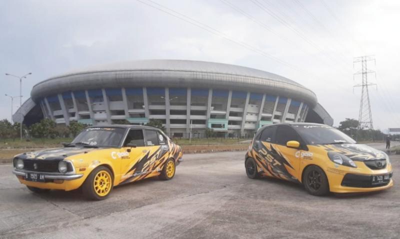Musim 2021, Pangarang Slalom Team - GAIA Bandung menampilkan livery baru dengan dominasi warna kuning pada mobilnya